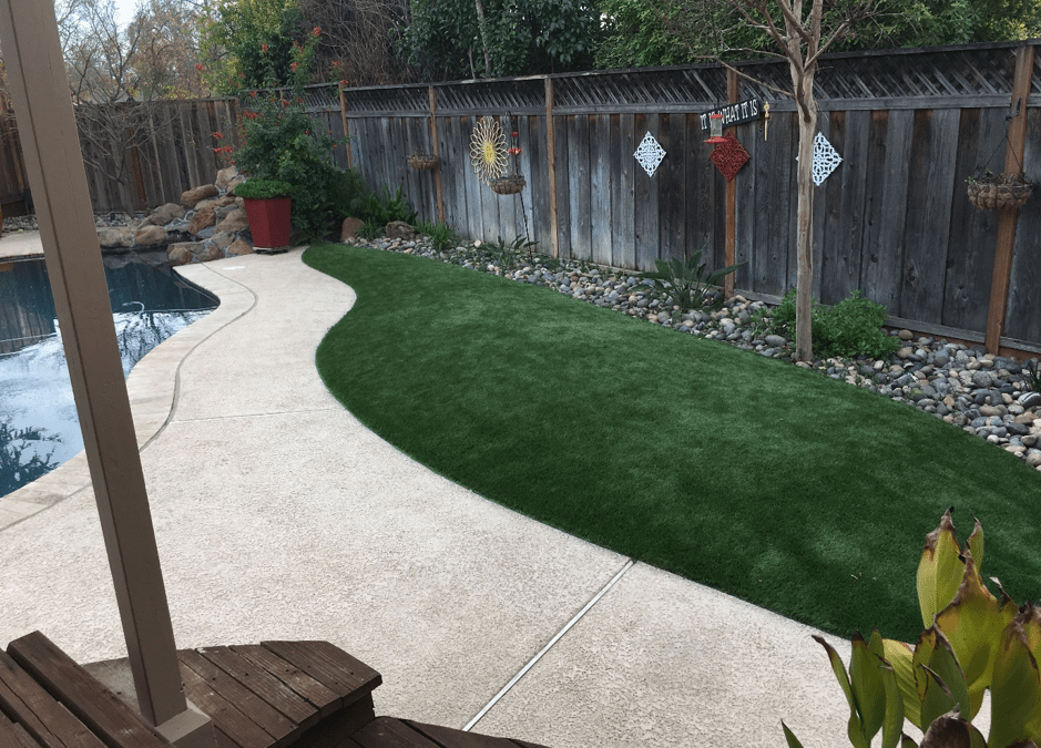 Upgrade Your Swimming Pool Area with Synthetic Grass for Pets in Tracy